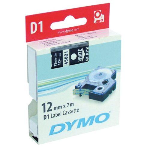 DYMO címke LM D1 alap 12mm fehér betű / fekete alap